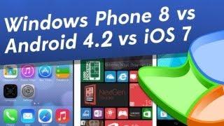 Comparação: Android 4.2 x iOS 7 x Windows Phone 8 - [Tecmundo]