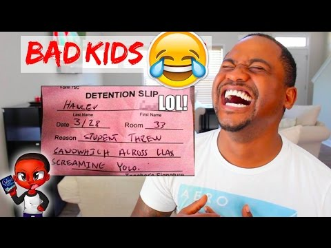 FUNNY DETENTION SLIPS From REAL KIDS | TOP 60 School FAILS