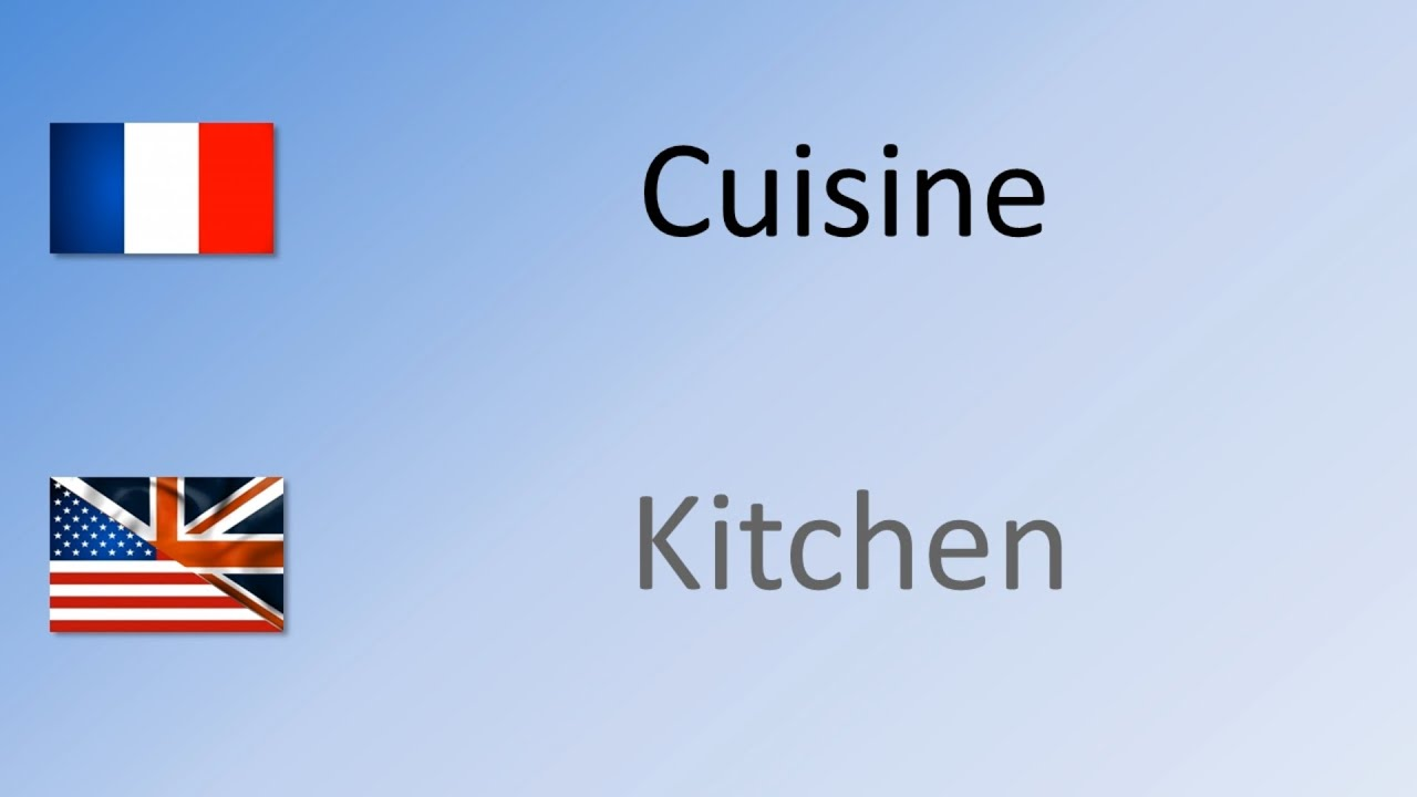 how to say pronounce kitchen in french cuisine - Kitchen In French