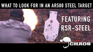 what to look for in an ar500 steel target featuring rsr steel