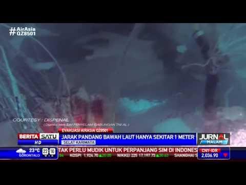 Penampakan Ekor AirAsia di Dasar Laut