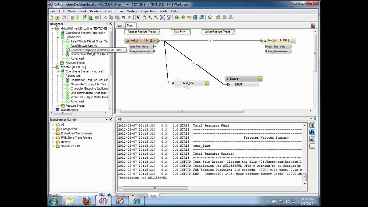 fixing xml files with bad encoding using fme youtube