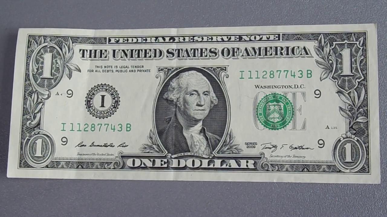 1 доллар купюра фото