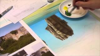 Airbrush TV Classics 4 - Fantasy Landschaft Anleitung - Airbrush Pinsel Mischtechnik