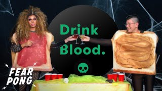 Halloween Fear Pong: Peanut Butter Vs. Drag Queen Jelly   O-Cut-ober