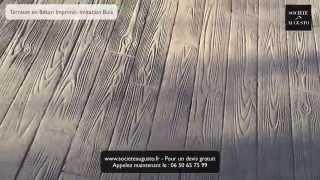 Terrasse en Béton Imprimé imitation Bois : les étapes de réalisation d'une Terrasse en Béton Imprimé