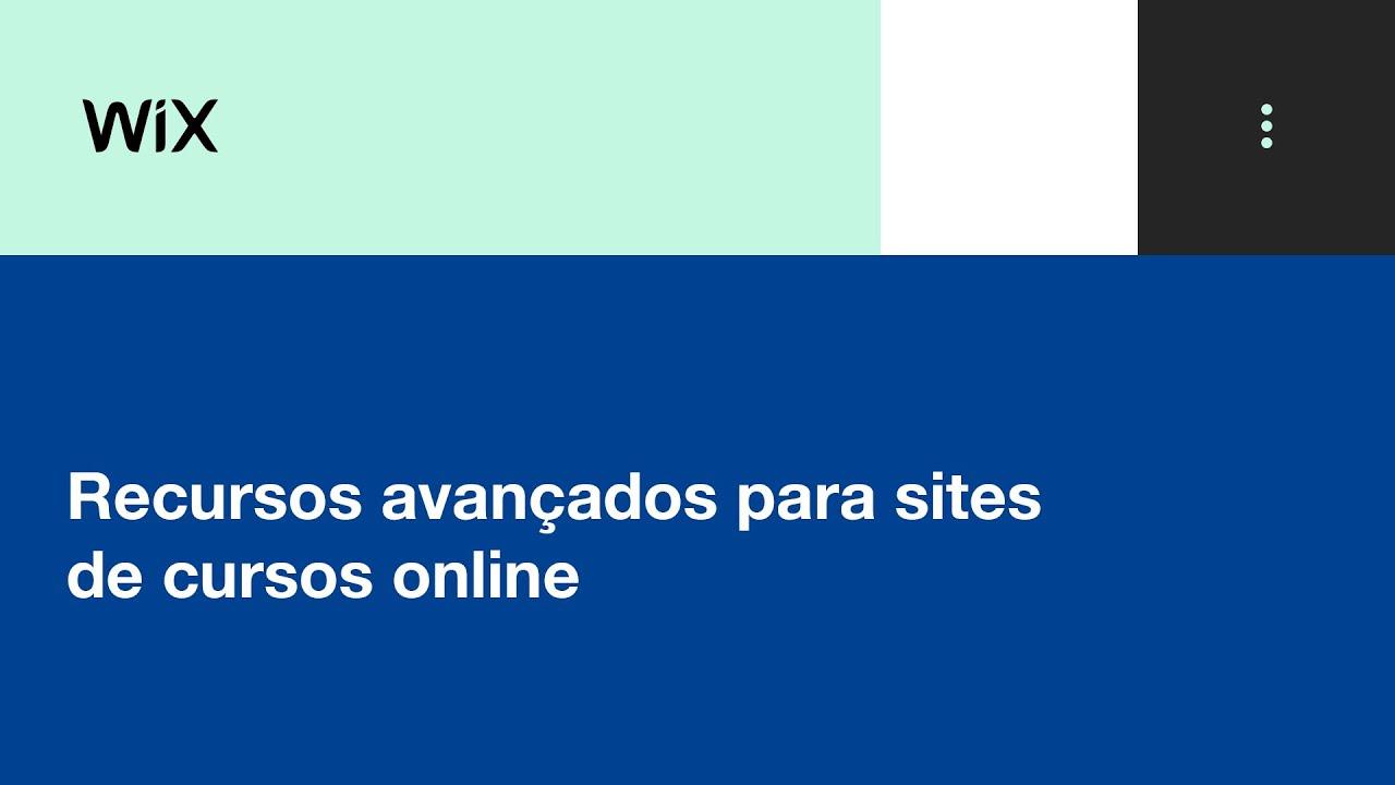 Wix Academia de Negócios   Recursos avançados para sites de cursos online