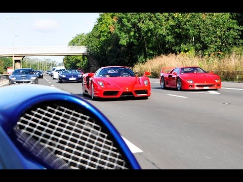 INSANE +10,000 BHP Ferrari Convoy and Bugatti Veryon all in a little town in England!?!