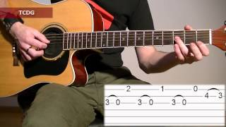 How To Play Mission Impossible On Acoustic Guitar: Tab Tutorial TCDG