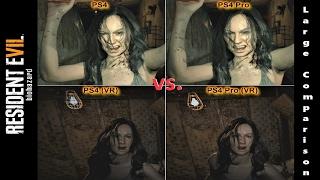 Resident Evil 7 | PS4 vs. PS4 Pro + VR Version | Large Graphics Comparison | 4K - 2160p