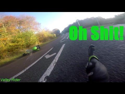 MOTORBIKE CRASH - Kawasaki ER6F testing the R&G crash bungs