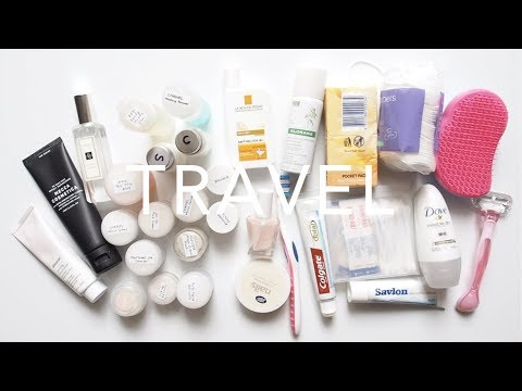 Travel Skincare Bag | Packing A Full Routine for Months Away
