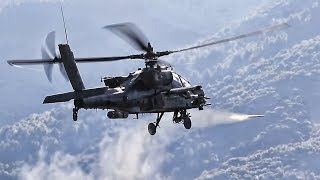 Apache Helicopters Fly Attack Cover For Greek Air Assault