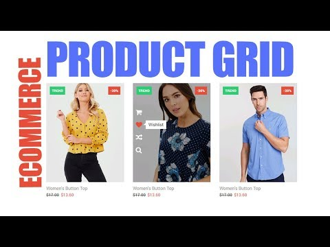 Ecommerce Product Grid Design Using HTML & CSS / Web Design