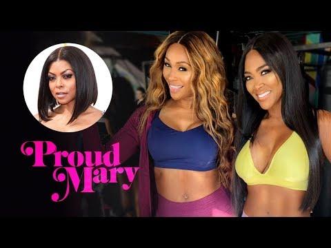 Kenya Moore & Cynthia Bailey Film Proud Mary Movie Promo   Official RHOA Footage