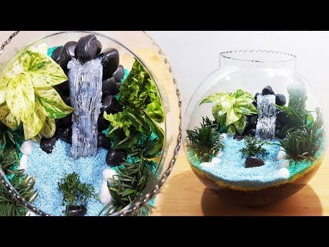 Craft Lead On How To Make Terrarium With Waterfall In Glass Bowl