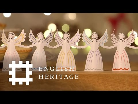How To Make A Paper Angel Christmas Garland