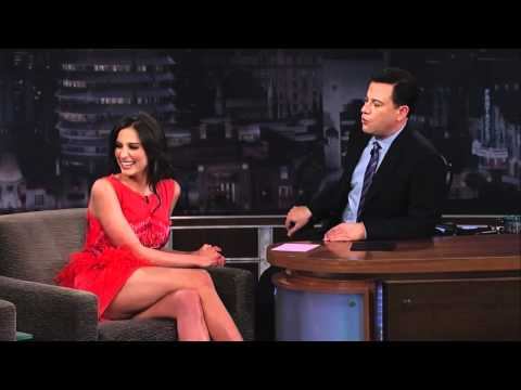 Genesis Rodriguez on Jimmy Kimmel Live PART 1