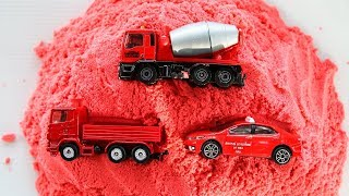 Learn Colours With Cars & Construction Vehicles for Toddlers Kids Children