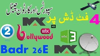 How to set Badrsat 26Eon 4feet dish/MBC Network package/free to air
