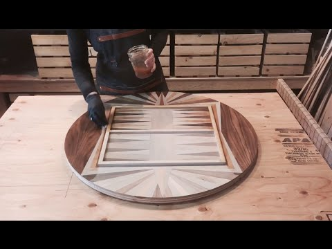 Backgammon Table Top Build - If You Give a Girl a Saw