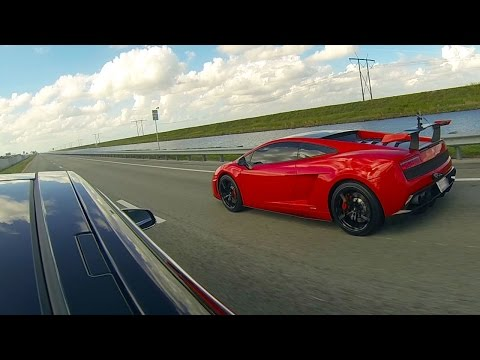 Tesla Model S P85D vs Lamborghini LP570-4 Super Trofeo Stradale Drag Racing