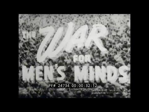 """WORLD WAR II  PROPAGANDA & COUNTER PROPAGANDA FILM  """"WAR FOR MEN'S MINDS""""  24734"""