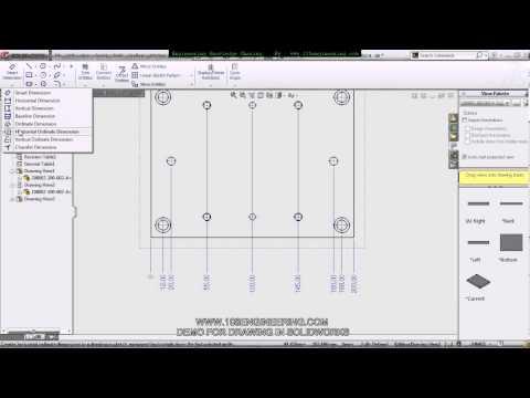 สอนการทำ Drawing ใน Solidworks By 108engineering.avi