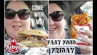 ARBY'S BEEF N CHEDDAR CURLY FRIES FAST FOOD FRIDAY INTRODUCTION MUKBANG