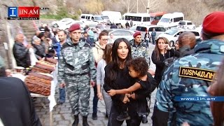 Kim Kardashian and her family visited Geghard monastery. Armenia, April 9, 2015
