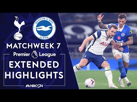 Tottenham v. Brighton | PREMIER LEAGUE HIGHLIGHTS | 11/1/2020 | NBC Sports