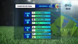Cuartos De Final Liga Aguila 1 2017 Sorteo