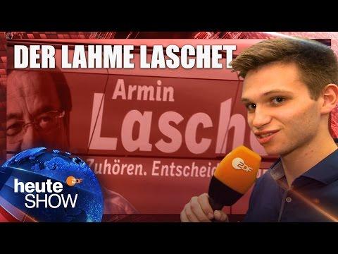 Fabian Köster beim CDU-Wahlkampf in NRW | heute-show vom 05.05.2017