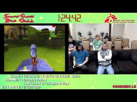 Spyro 2: Ripto's Rage Speed Run (2:17:14) (100%) by SpudlyMan #SGDQ 2013