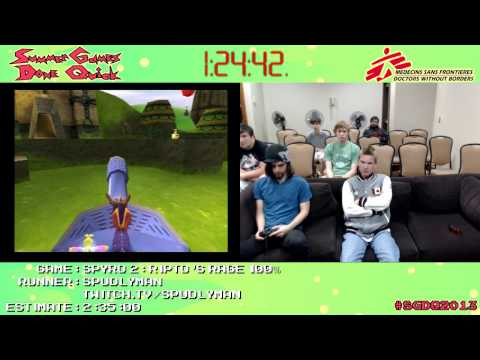 Spyro 2: Ripto's Rage Speed Run (2:17:14) (100%) by SpudlyMan #SGDQ 2013