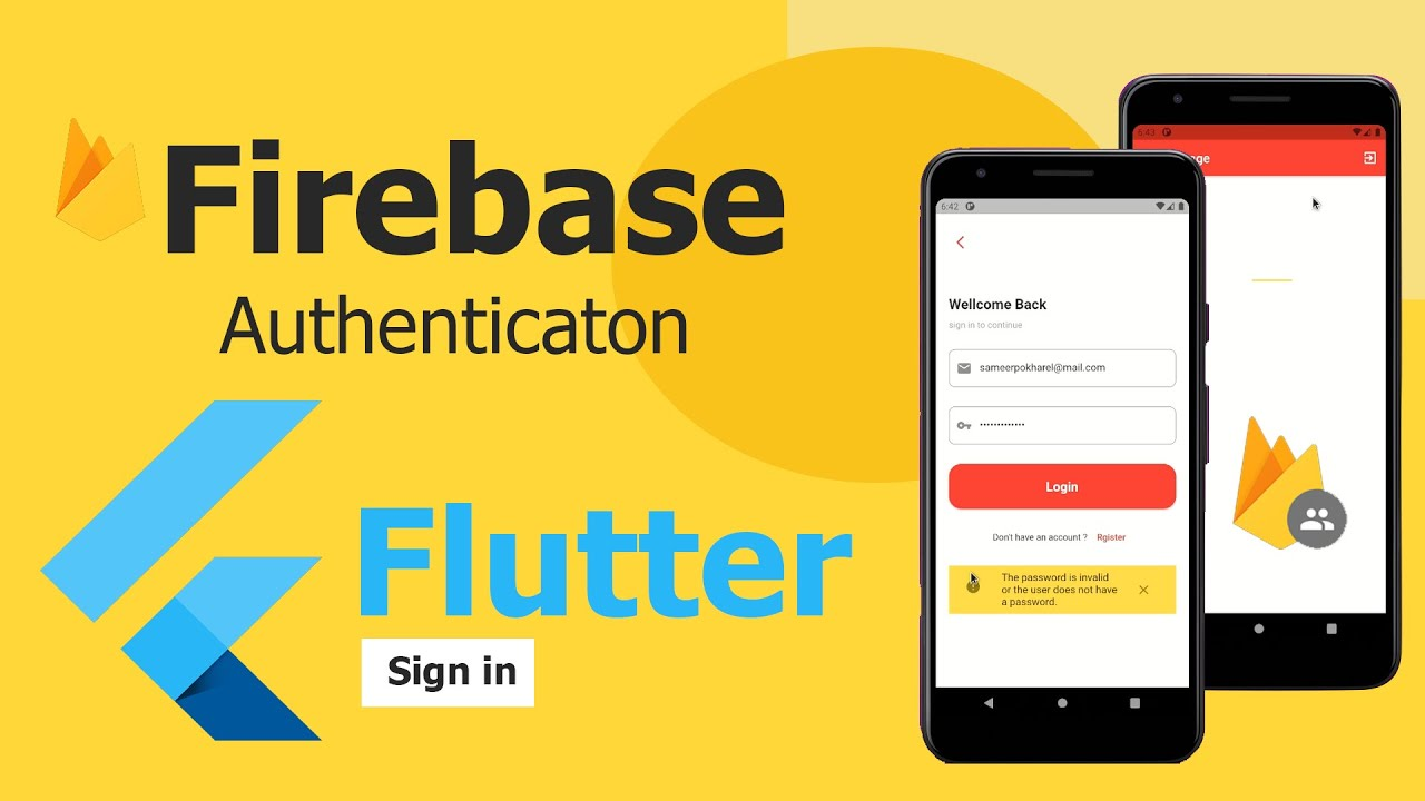 Flutter Firebase Authentication - Email & Password