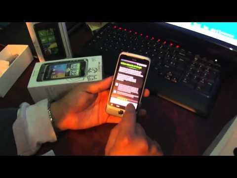 Unboxing HTC Desire Z