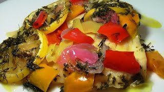 РЫБА ЗАПЕЧЕННАЯ В ДУХОВКЕ .Fish baked with vegetables