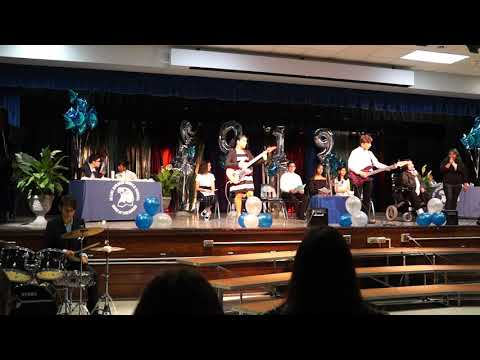 """Smells like teen spirit cover by Miami Springs Middle School """"Uneven"""" band"""