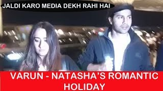 Varun Dhawan Leaves For ROMANTIC HOLIDAY With Girlfriend Natasha Dalal