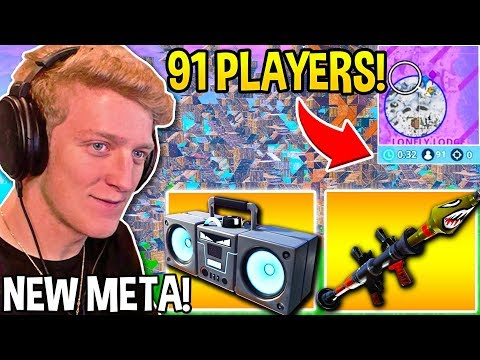 "TFUE Wins Using *GENIUS* ""BOOMBOX & RPG"" COMBO in FINAL 91 PLAYER CIRCLE! - Fortnite Moments"