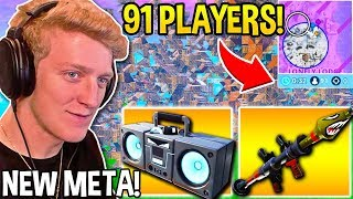"""TFUE Wins Using *GENIUS* """"BOOMBOX & RPG"""" COMBO in FINAL 91 PLAYER CIRCLE! - Fortnite Moments"""