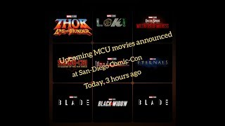Upcoming MCU movies announced at San-Diego Comic-Con