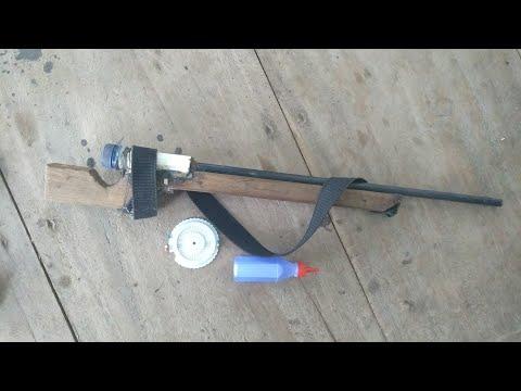 Cara membuat tembakan/senapan berpeluru jarum dari barang bekas