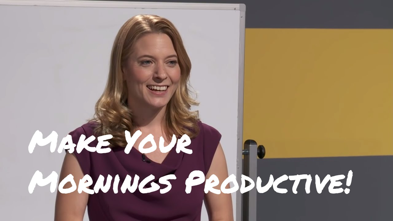 Laura Vanderkam: How to Make Your Mornings More Productive ...