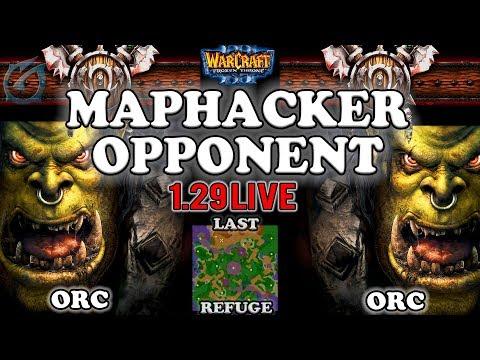 Grubby | Warcraft 3 TFT | 1.29 LIVE | ORC v ORC on Last Refuge  - Maphacker Opponent