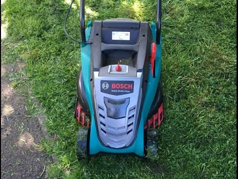 bosch rotak 37 36 li ergo cordless lawnmower real life review youtube. Black Bedroom Furniture Sets. Home Design Ideas