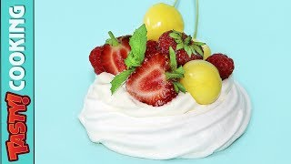 Mini Pavlova Dessert Recipe 🍓 Tasty Cooking