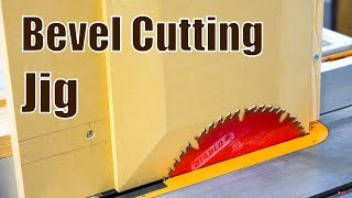 Make a Bevel Cutting Jig for Table Saw | Woodworking Jig