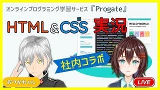 【LIVE】Progate実況!HTML&CSSを一緒に学ぼう【なるはやちゃん おつかれくん】